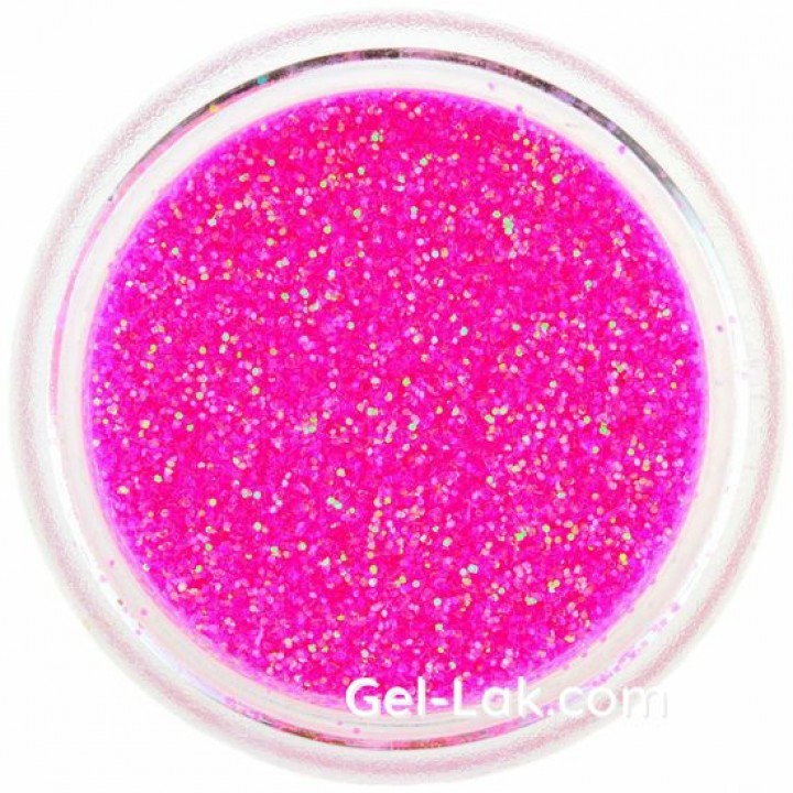 Ярко Розовые Голографические блёстки для ногтей №78
