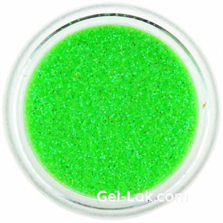 Кислотно Зеленые Голографические блёстки для ногтей №91