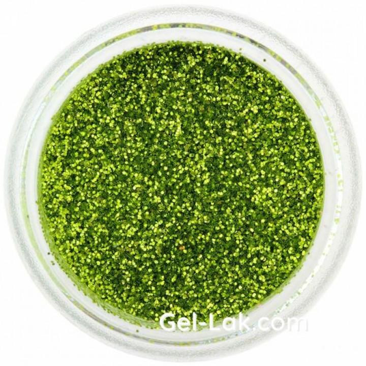 Травяные Зелёные блёстки для ногтей №42