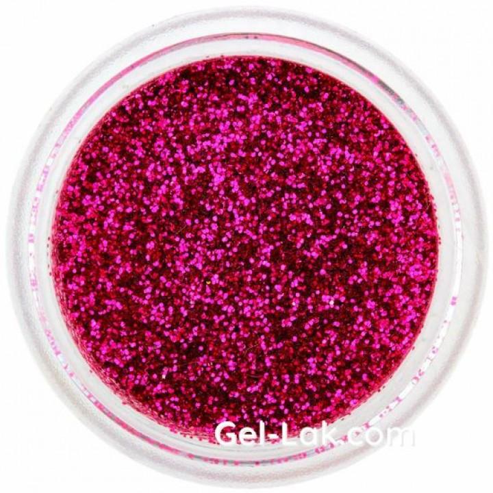 Вишнево Розовые блёстки для ногтей №63