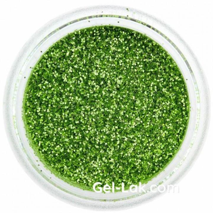 Зелёные блёстки для ногтей №35