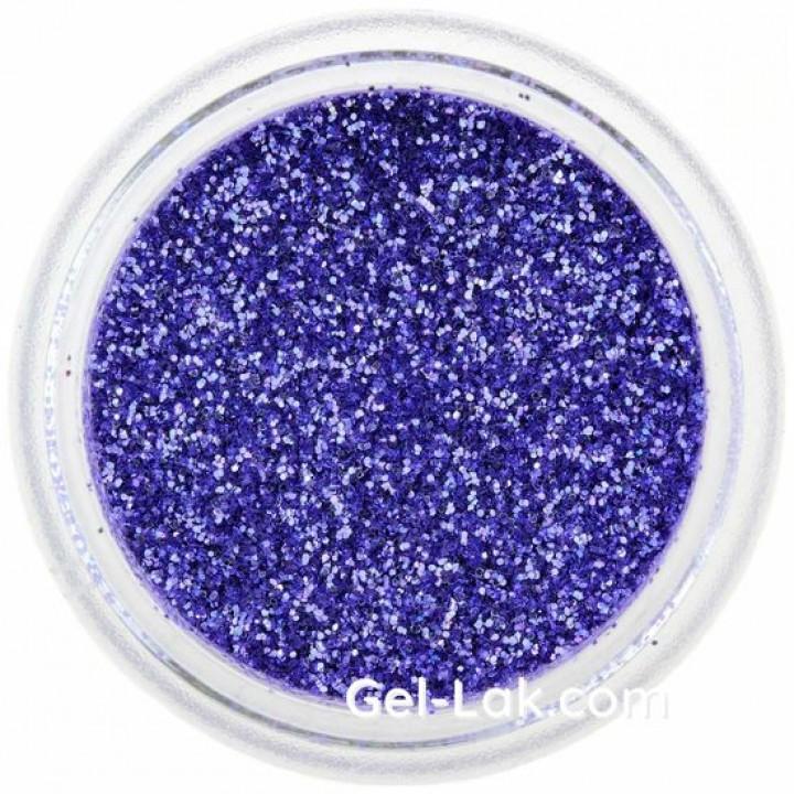 Синие блёстки для ногтей №52