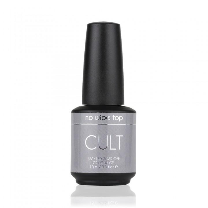Топ гель для ногтей Cult без липкого слоя no wipe