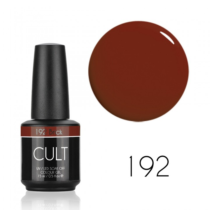Гель лак для ногтей классический красный Cult №192 Brick 15 мл