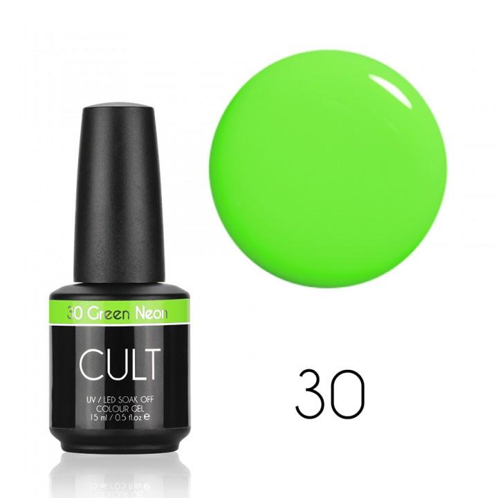Гель лак для ногтей CULT Green Neon №30