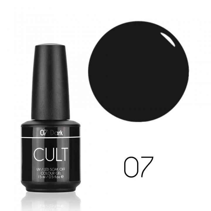Гель лак для ногтей серо чёрный CULT Dark №07