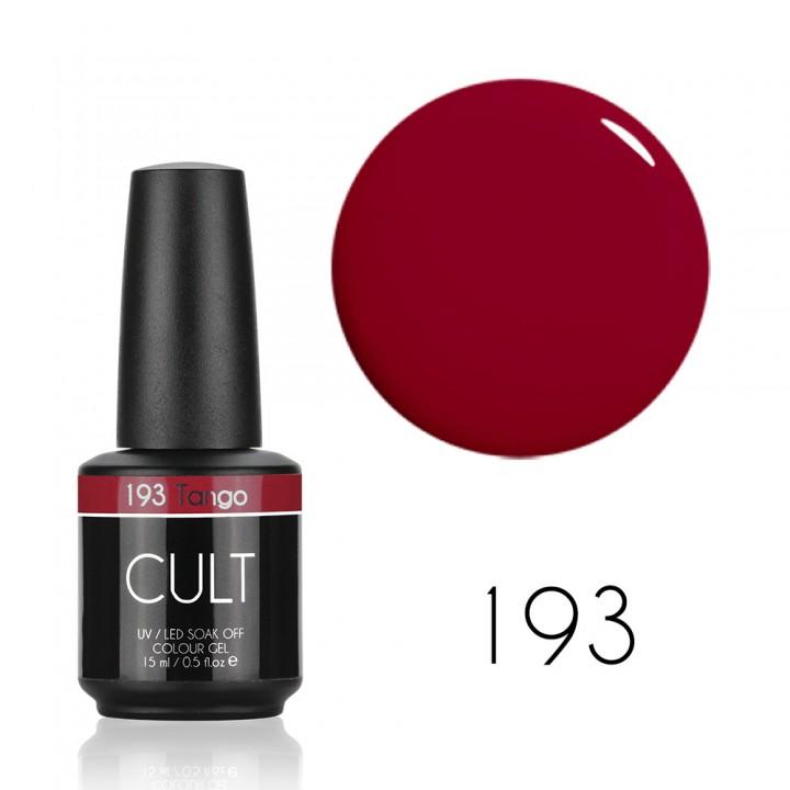 Гель лак для ногтей классический красный Cult №193 Tango 15 мл