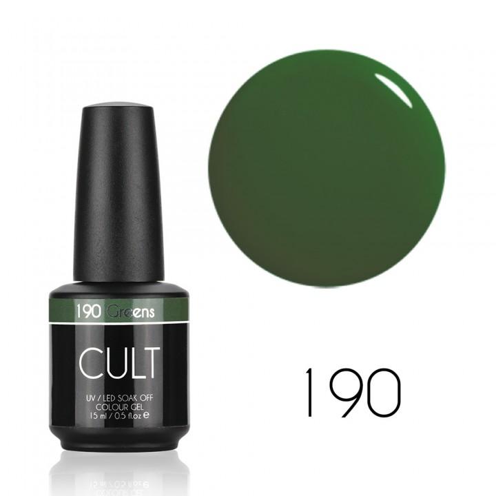 Гель лак для ногтей CULT №190 Greens 15 мл