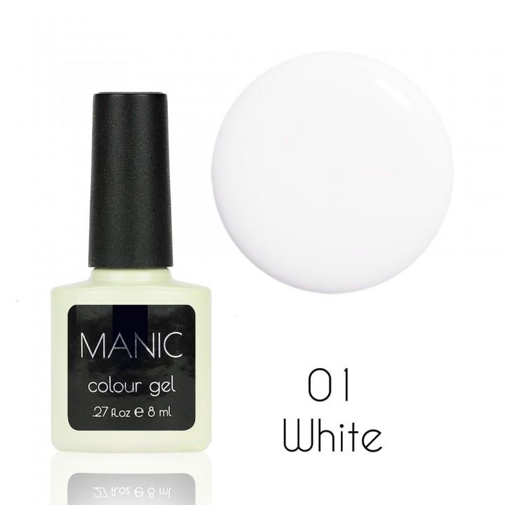Гель лак для ногтей MANIC №01 White
