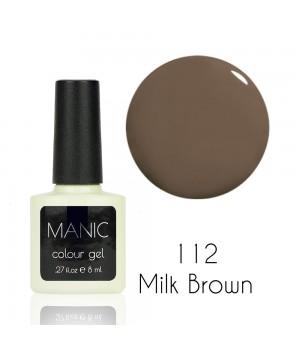 Гель лак MANIC №112 Milk Brown