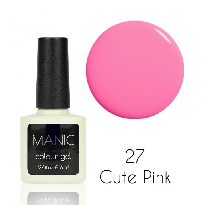 Гель лак для ногтей MANIC №27 Cute Pink