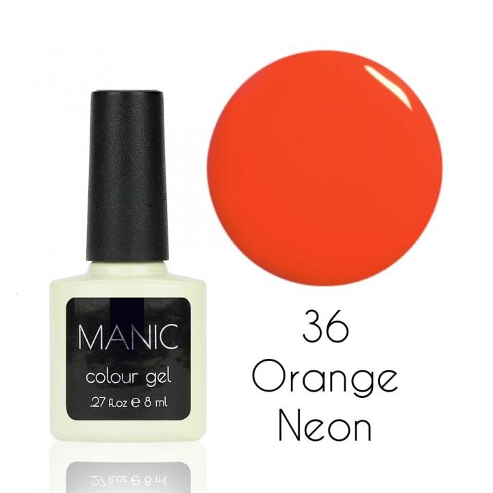 Гель лак для ногтей MANIC №36 Orange Neon