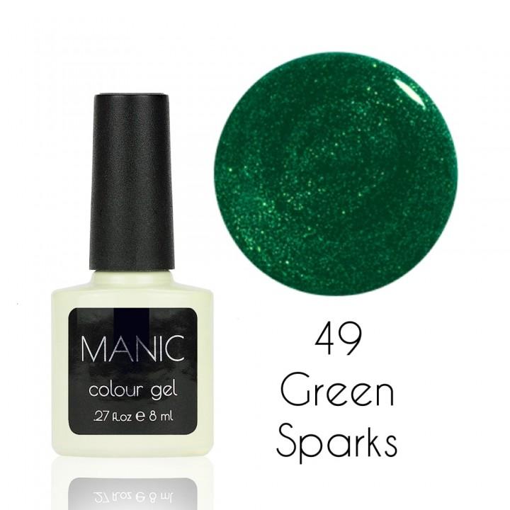 Гель лак для ногтей MANIC №49 Green Sparks