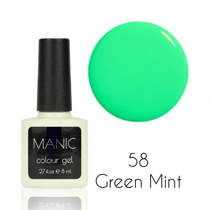 Гель лак для ногтей MANIC №58 Green Mint
