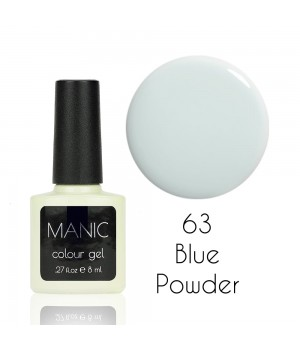 Гель лак MANIC №63 Blue Powder