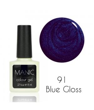 Гель лак MANIC №91 Blue Gloss