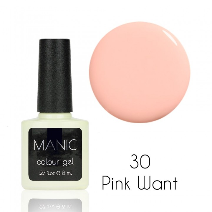 Гель лак для ногтей MANIC №30 Pink Want