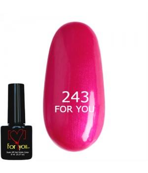 Гель лак Розовый №243