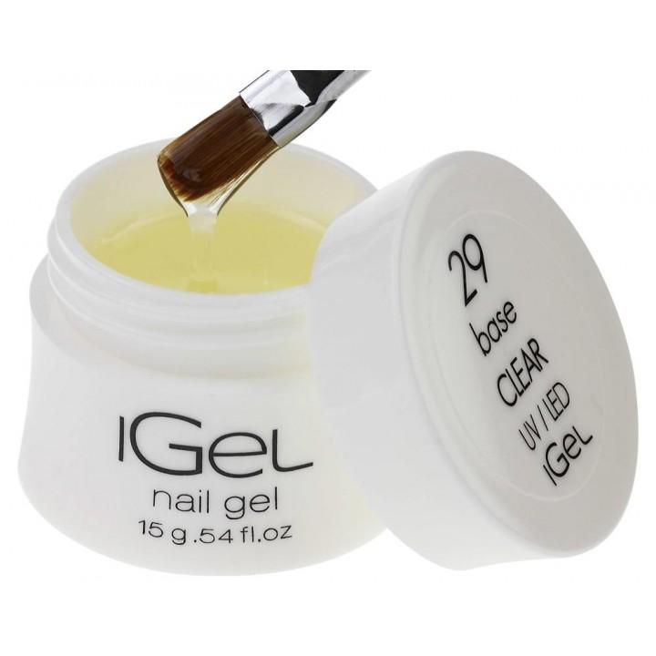 Базовый гель для ногтей iGel Base Clear №29