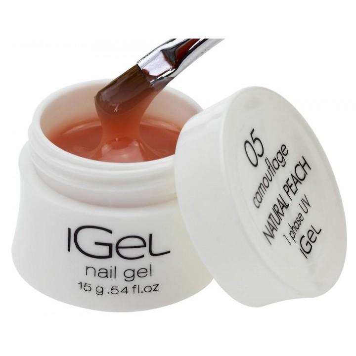 Гель для наращивания ногтей натурально персиковый iGel Natural Peach №05