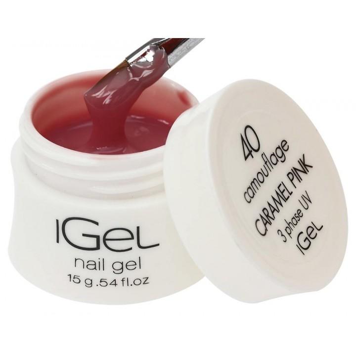Гель для наращивания ногтей iGel Caramel Pink №40