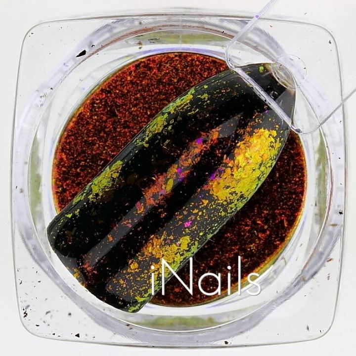 Голографические Хлопья Юки №15 для дизайна ногтей
