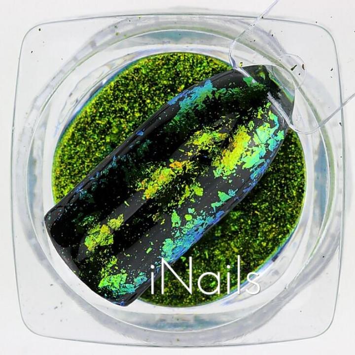 Голографические Хлопья Юки №23 для дизайна ногтей