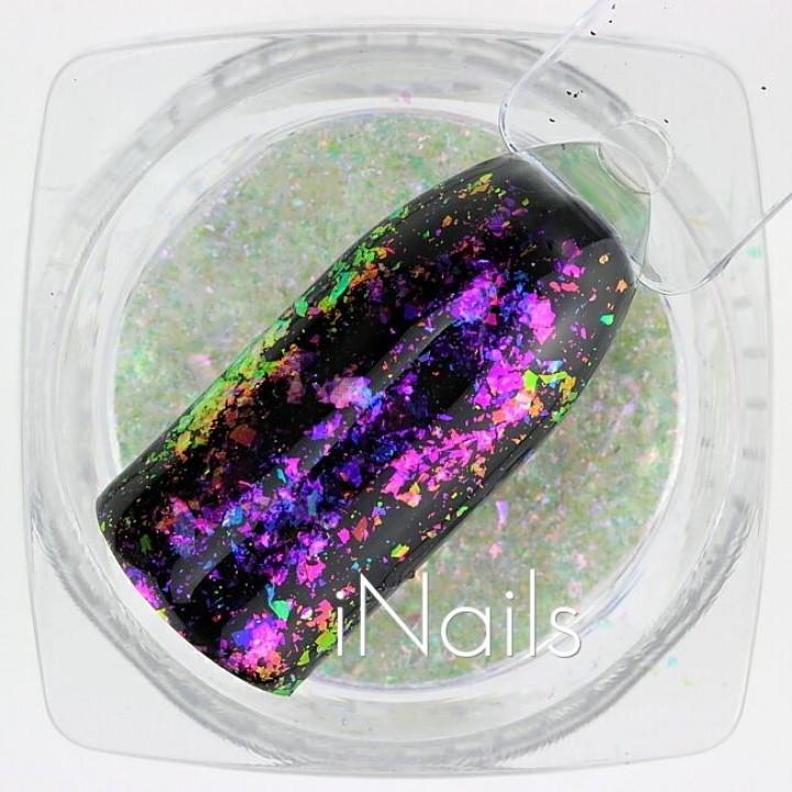 Голографические Хлопья Юки №04 для дизайна ногтей
