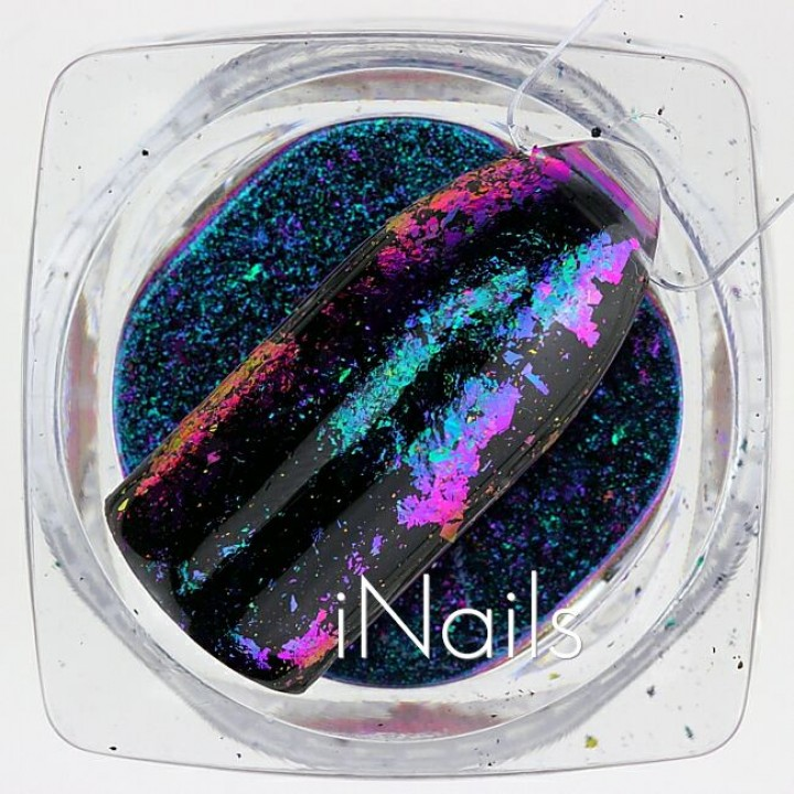 Голографические Хлопья Юки №18 для дизайна ногтей