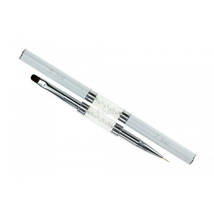 Кисточка для росписи и дизайна ногтей Oval #6 / Liner #7