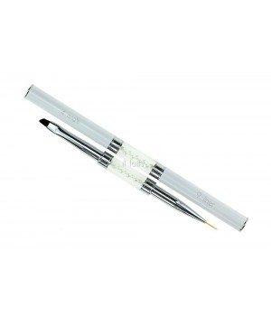 Кисть для росписи и дизайна ногтей Angle #4 / Liner #9