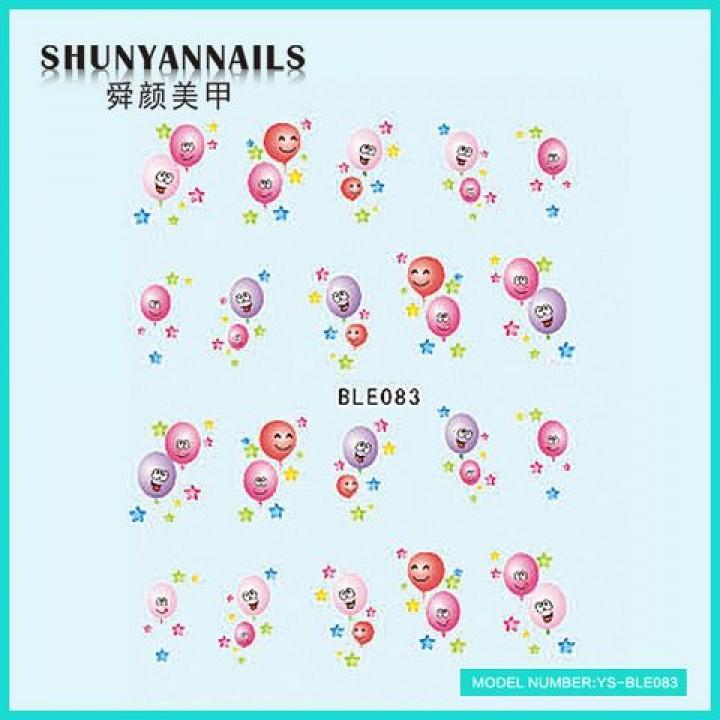 Наклейки для ногтей Воздушные шарики