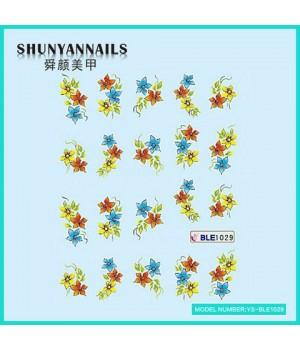 Наклейки на ногти Цветы лилия