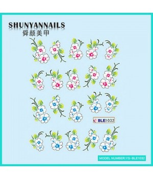 Наклейки на ногти Цветы сакура