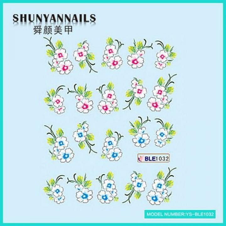 Наклейки для ногтей Цветы сакура