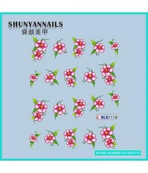 Наклейки на ногти Цветы розовые