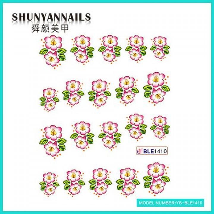 Наклейки для ногтей Лиловые цветочки