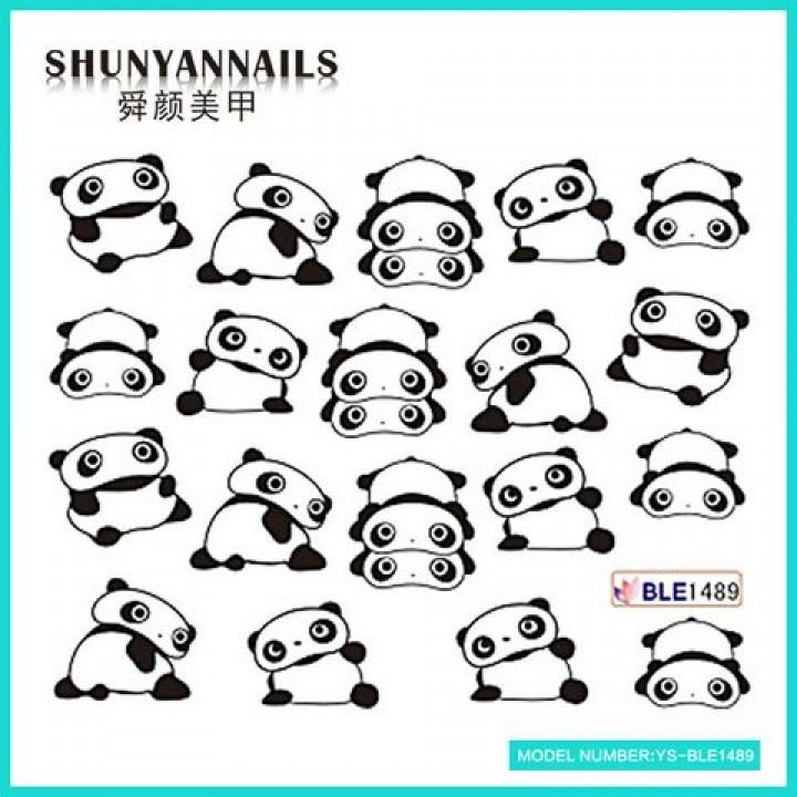 Наклейки для ногтей Животные, панда
