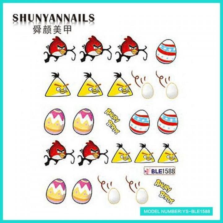 Наклейки для ногтей Птицы, Angry Birds