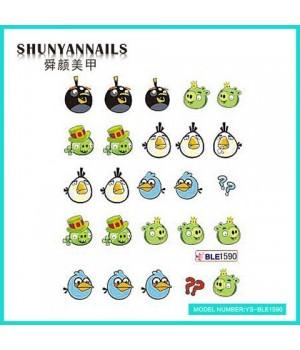 Наклейки на ногти Angry Birds