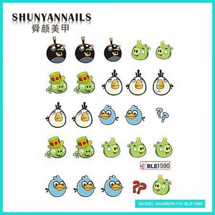 Наклейки для ногтей Angry Birds