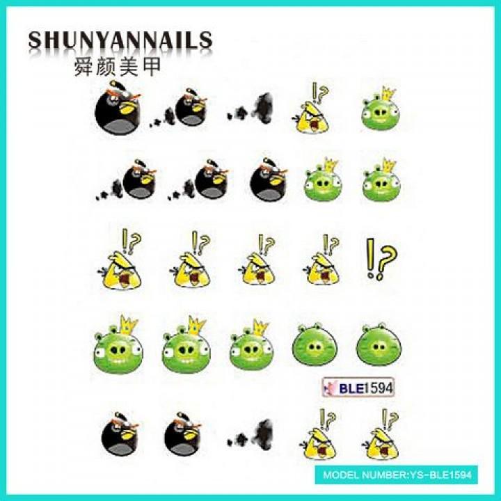 Наклейки для ногтей Мультяшки, Angry Birds