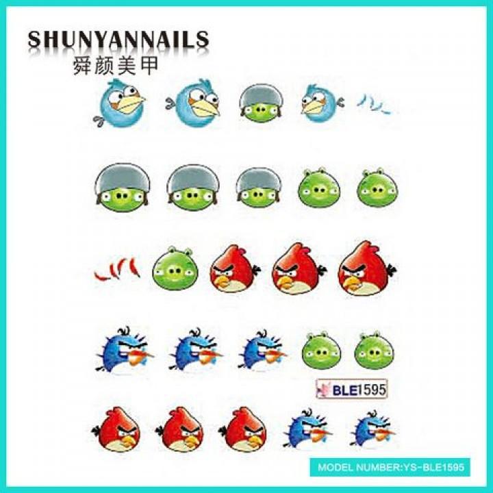 Наклейки для ногтей Птички, Angry Birds