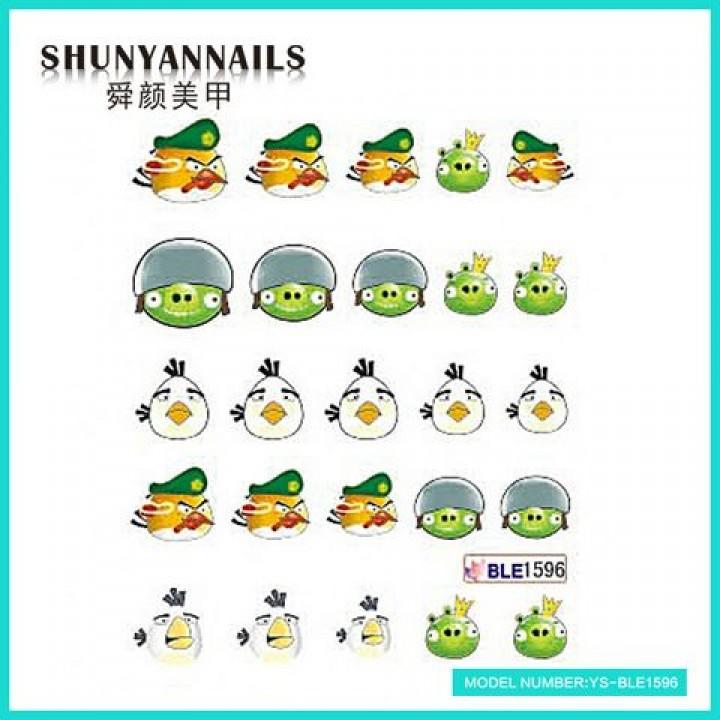 Наклейки для ногтей Мультики, Angry Birds