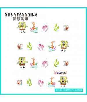 Наклейки на ногти Губка Боб, Sponge Bob, мультяшки