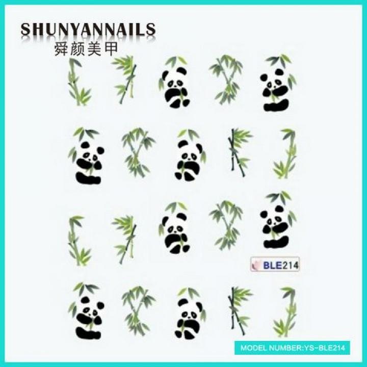 Наклейки для ногтей Панда, животные