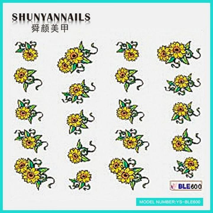 Наклейки для ногтей Цветы, подсолнухи