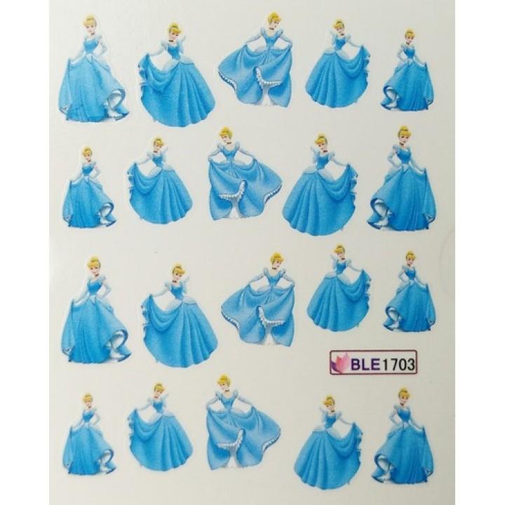 Наклейки для ногтей Мультяшки, принцесса