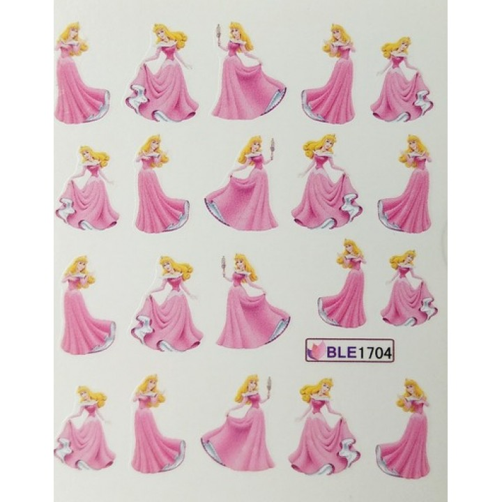 Наклейки для ногтей Мультики, принцесса