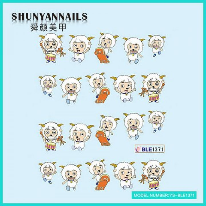 Наклейки для ногтей Животные, веселые овечки